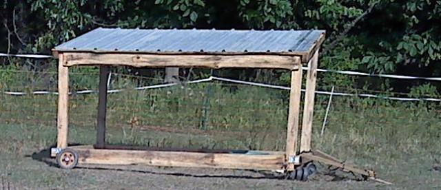 Portable Hay Shelter : Goat housing backyardherds