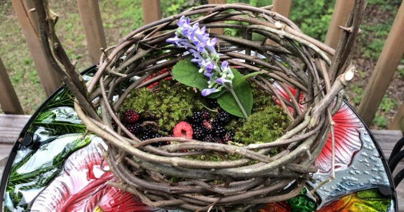 POW: Beautiful handmade basket and handpicked goodies from ByFaithFarm